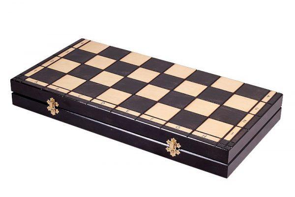 wooden slim chess set