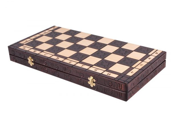 wooden roman chess set