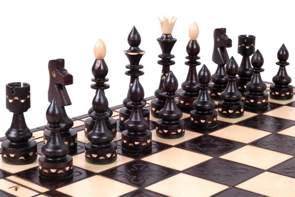 wooden indian chess set