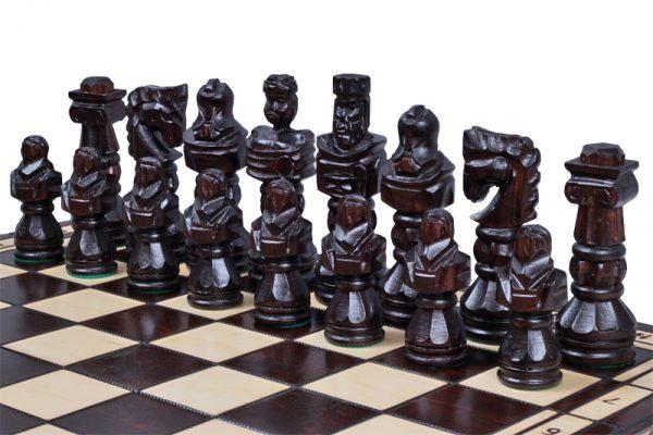 handmade gladiator chess set
