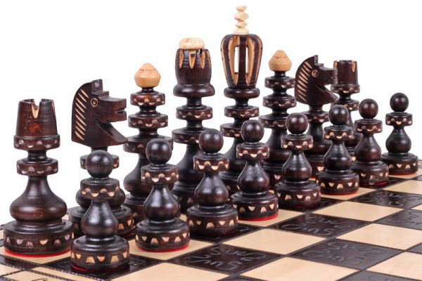 handmade roman chess set