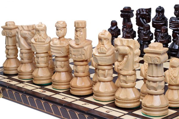 gladiator chess set wooden