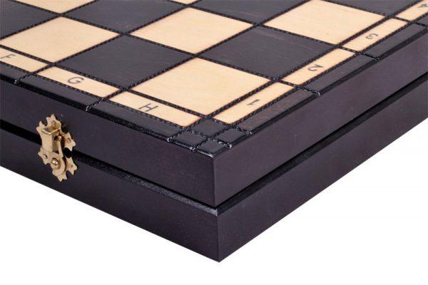 slim chess set wooden