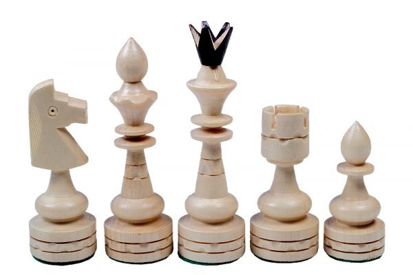 light chess set wooden