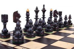 handmade small chess set