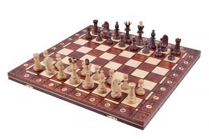 18 inch chess set wooden