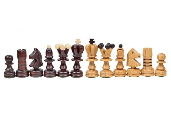wooden inlaid chess set handmade