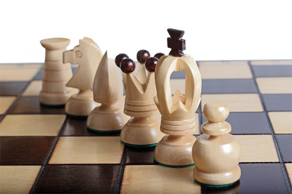 wooden chess set king