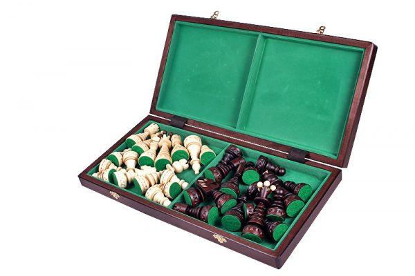 wooden christmas chess set