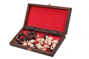 wooden mini chess set