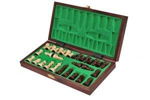 wooden school chess set