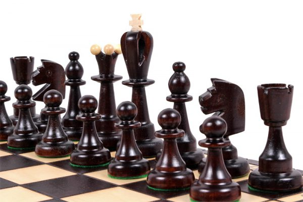 wooden chess set 16 inch