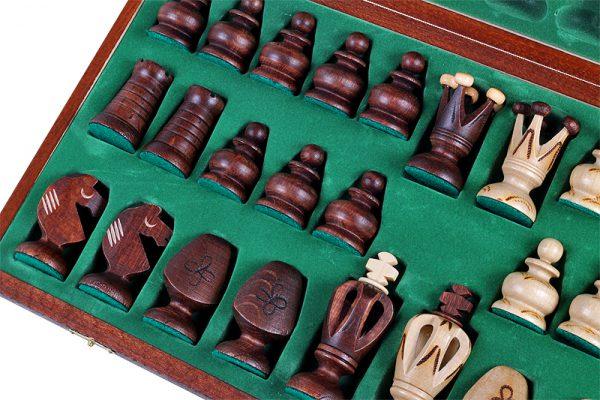 handmade wooden chess set