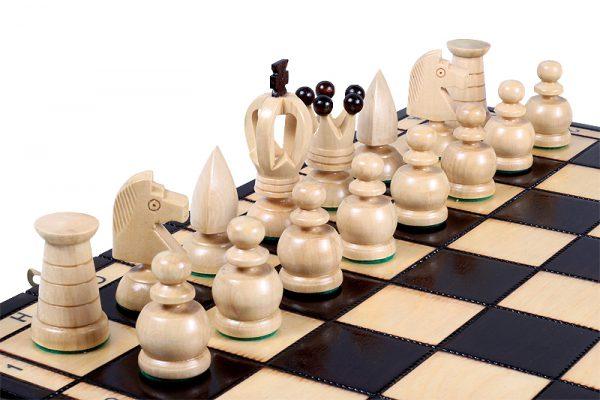 wooden king chess set handmade