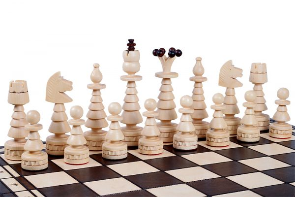 folding chess set festive
