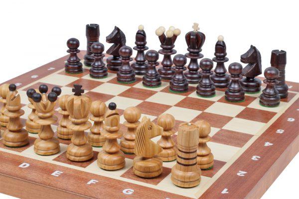 handmade wooden pearl chess set