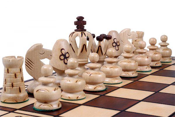 wooden royal chess set
