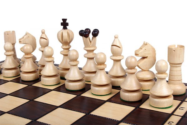 wooden chess set pearl