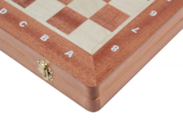 wooden pearl inlaid chess set