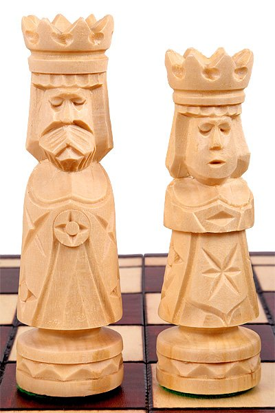 wooden chess set ancient