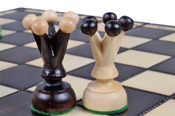 medium chess set wooden