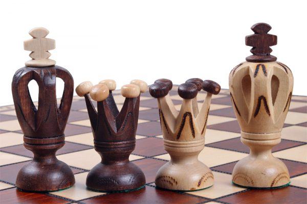 handmade wooden chess set royal