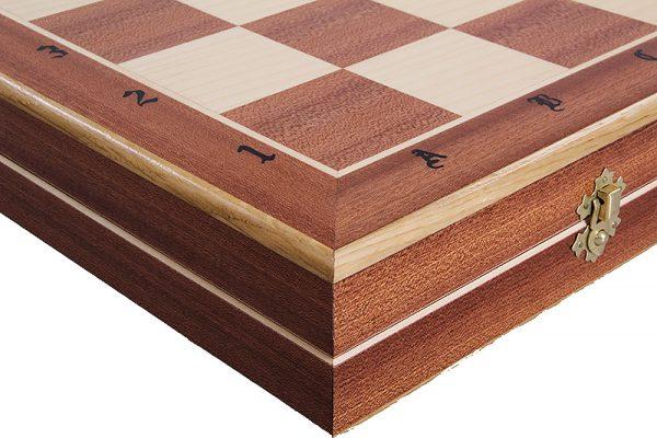 wooden castle chess set