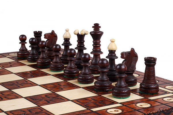 wooden chess set ornament