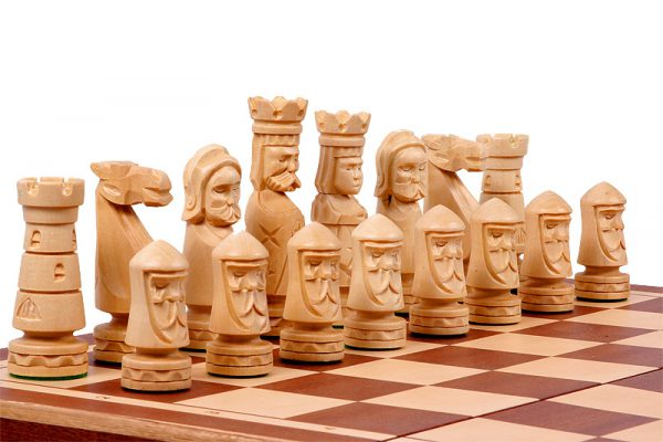 handmade wooden chess set salzburg