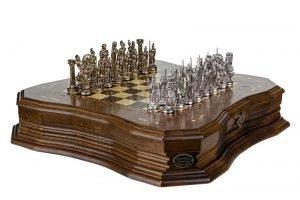 Schachspiel Antike Walnuss