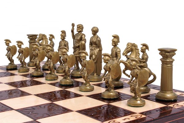 handmade wooden chess set sparta