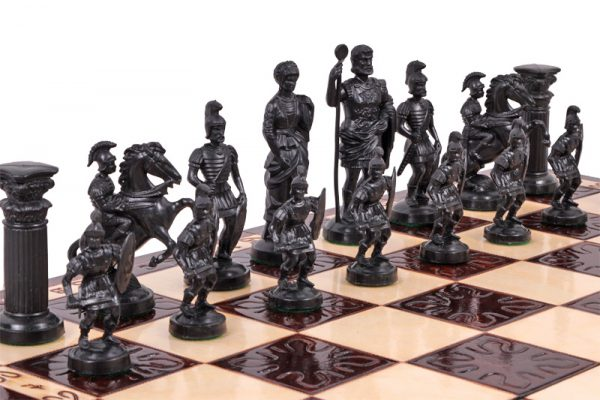 sparta wooden chess set