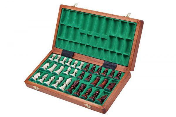 wooden tournament chess folding
