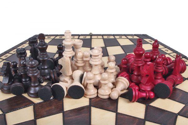 three player chess handmade