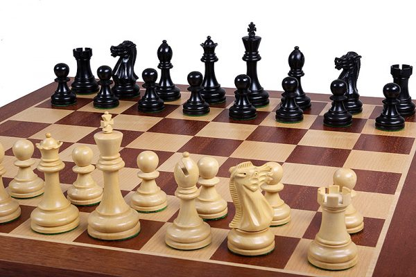 wooden executive chessmen