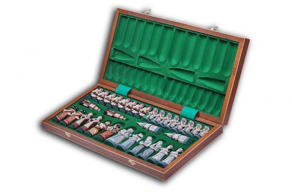 wooden fantasy chess set