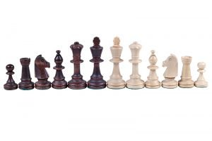 staunton chessmen brown