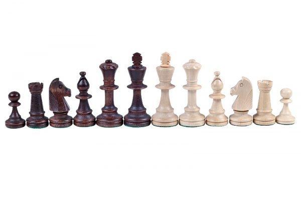 staunton chessmen brown