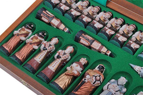 handmade fantasy chess set