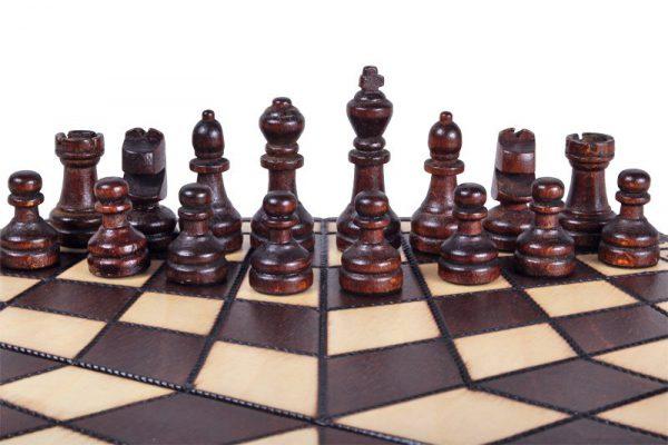 3 Personen Schach 28 cm