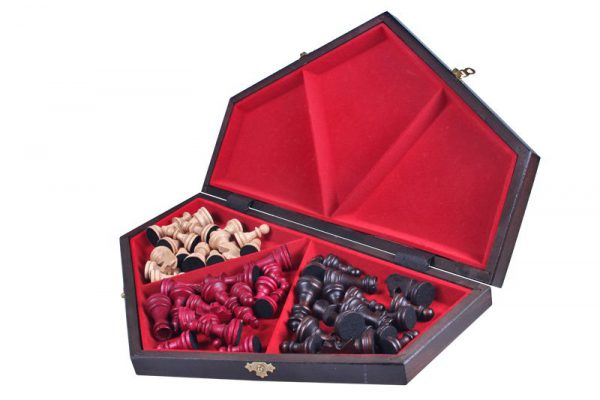 folding three player chess set