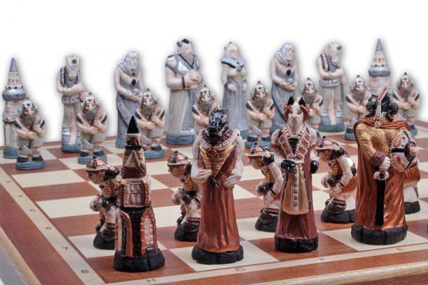 wooden fantasy chess