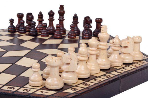 3 Personen Schach 35 cm