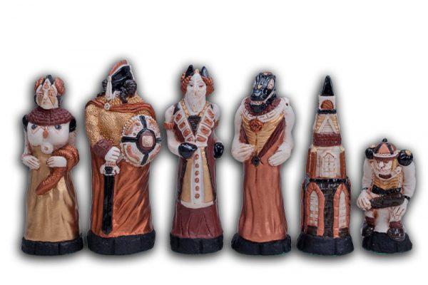 handmade fantasy chess set 21 inch
