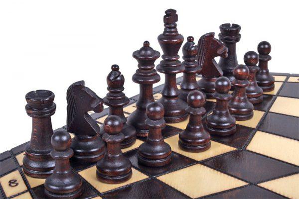three player chess set handmade