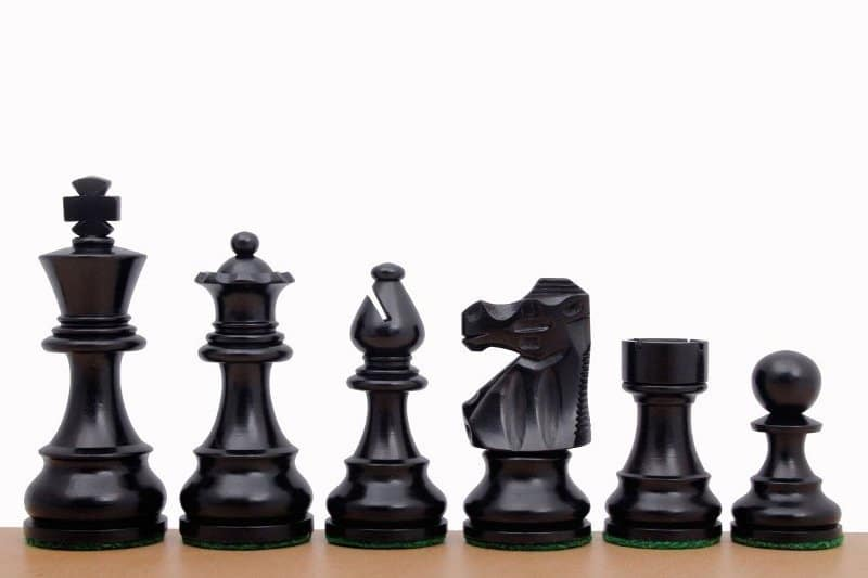 ebonised chessmen