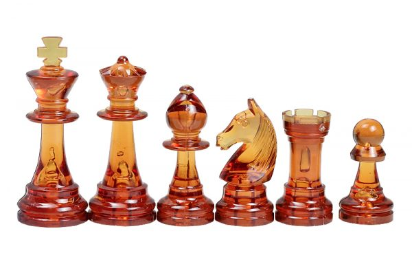 transparent chess pieces