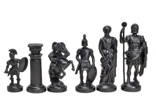 roman chess pieces plastic