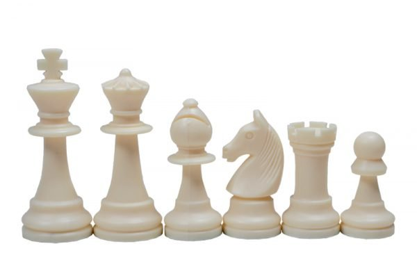 staunton white chess pieces