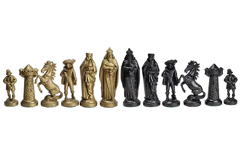 gold chess pieces